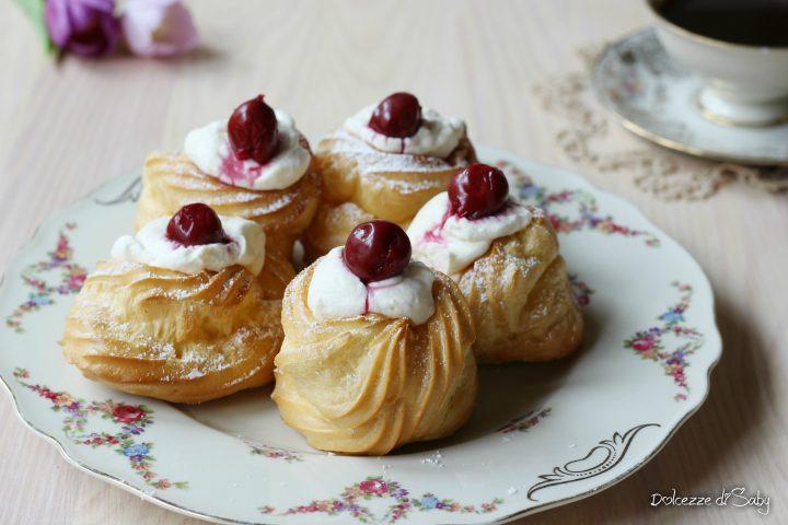 Zeppole con Crema Diplomatica (ricetta con Monsieur Cuisine Plus O Bimby)