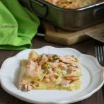 Lasagne al salmone gamberetti e pistacchi