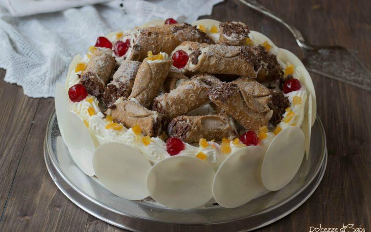 Torta cannolo siciliano