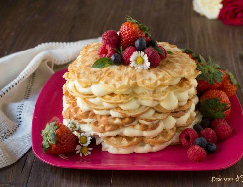 Torta Waffel con frutti rossi