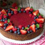 Cheesecake cacao e frutti di bosco (käsekuchen ricetta tedesca)
