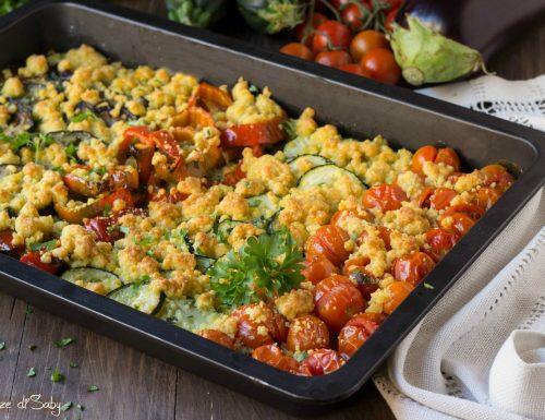 Crumble di verdure al parmigiano
