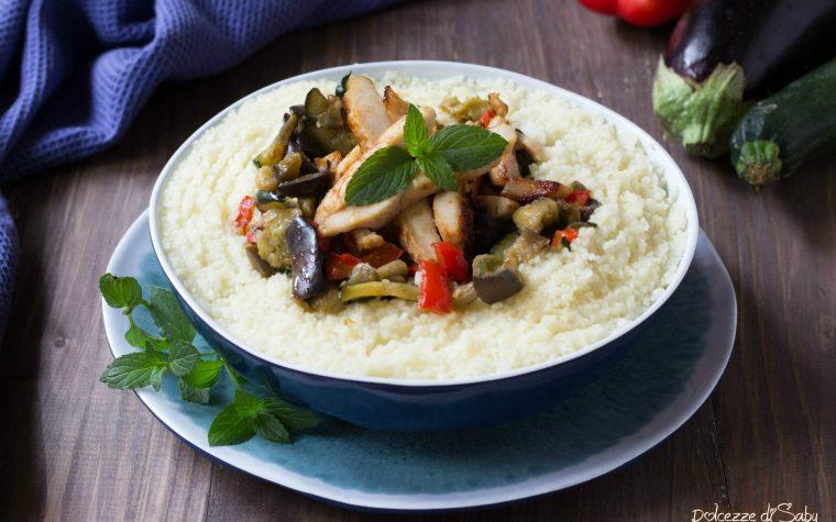 Cous cous verdure e pollo