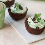 Tortine menta e cioccolato (senza cottura e velocissime)