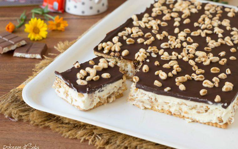 Torta cereali e cioccolato senza cottura