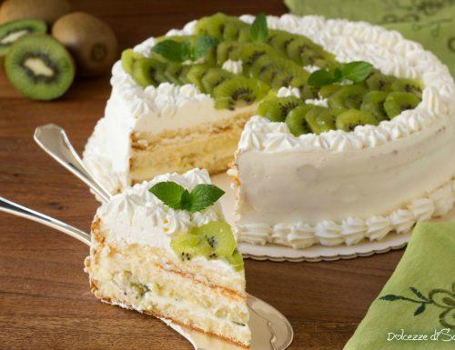 Torta al kiwi con crema al limone