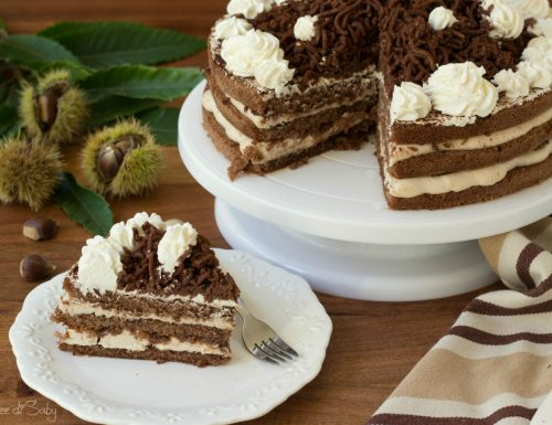 Torta Montblanc con castagne