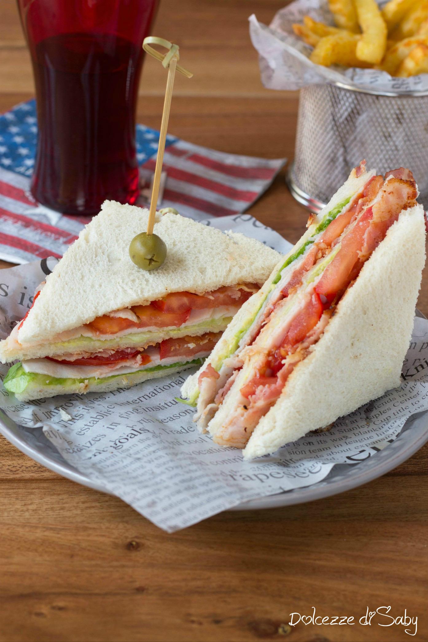 Club Sandwich con Tacchino Arrosto