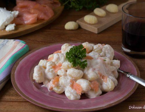 Gnocchi ricotta e salmone