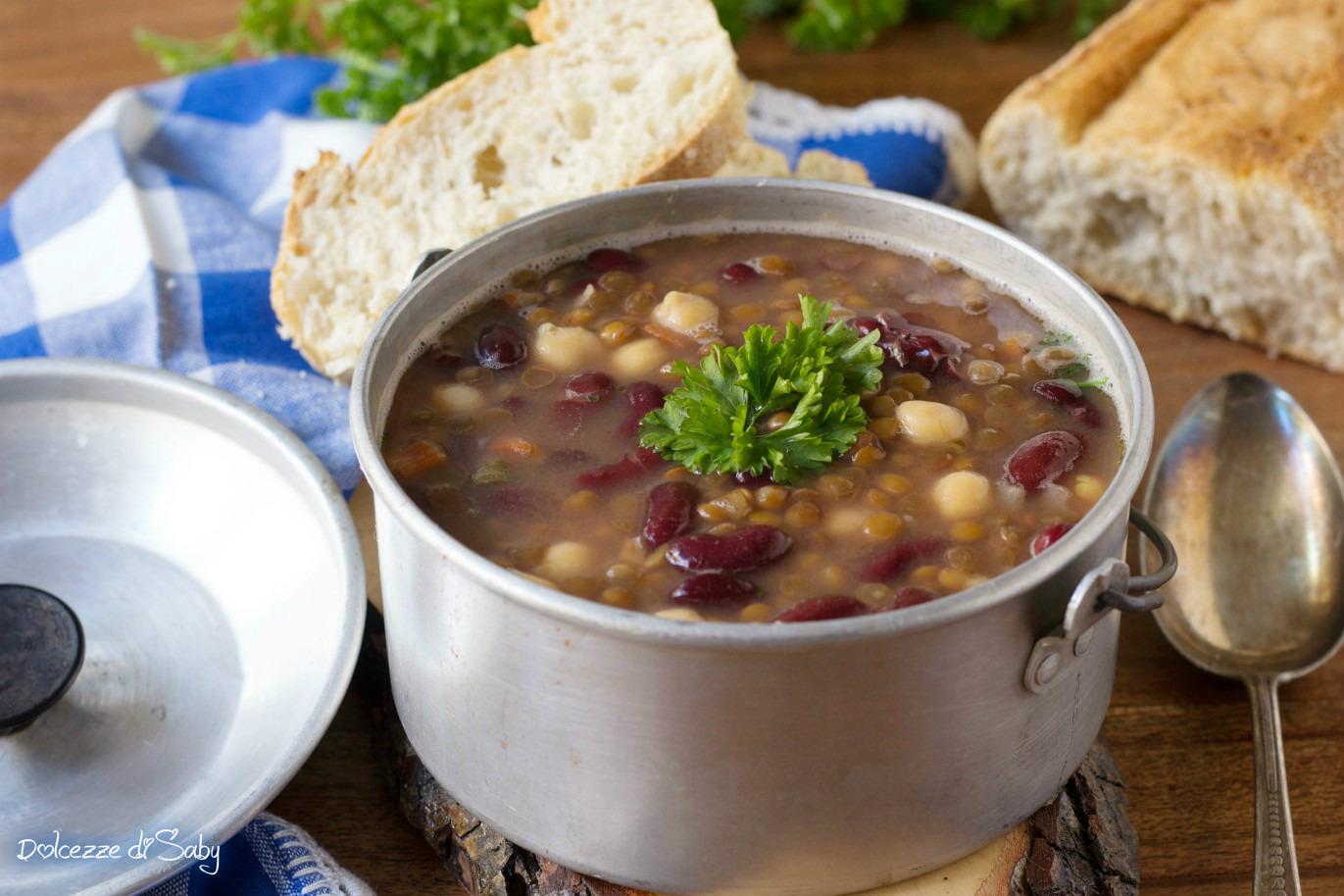 Zuppa di Lenticchie, Fagioli e Ceci