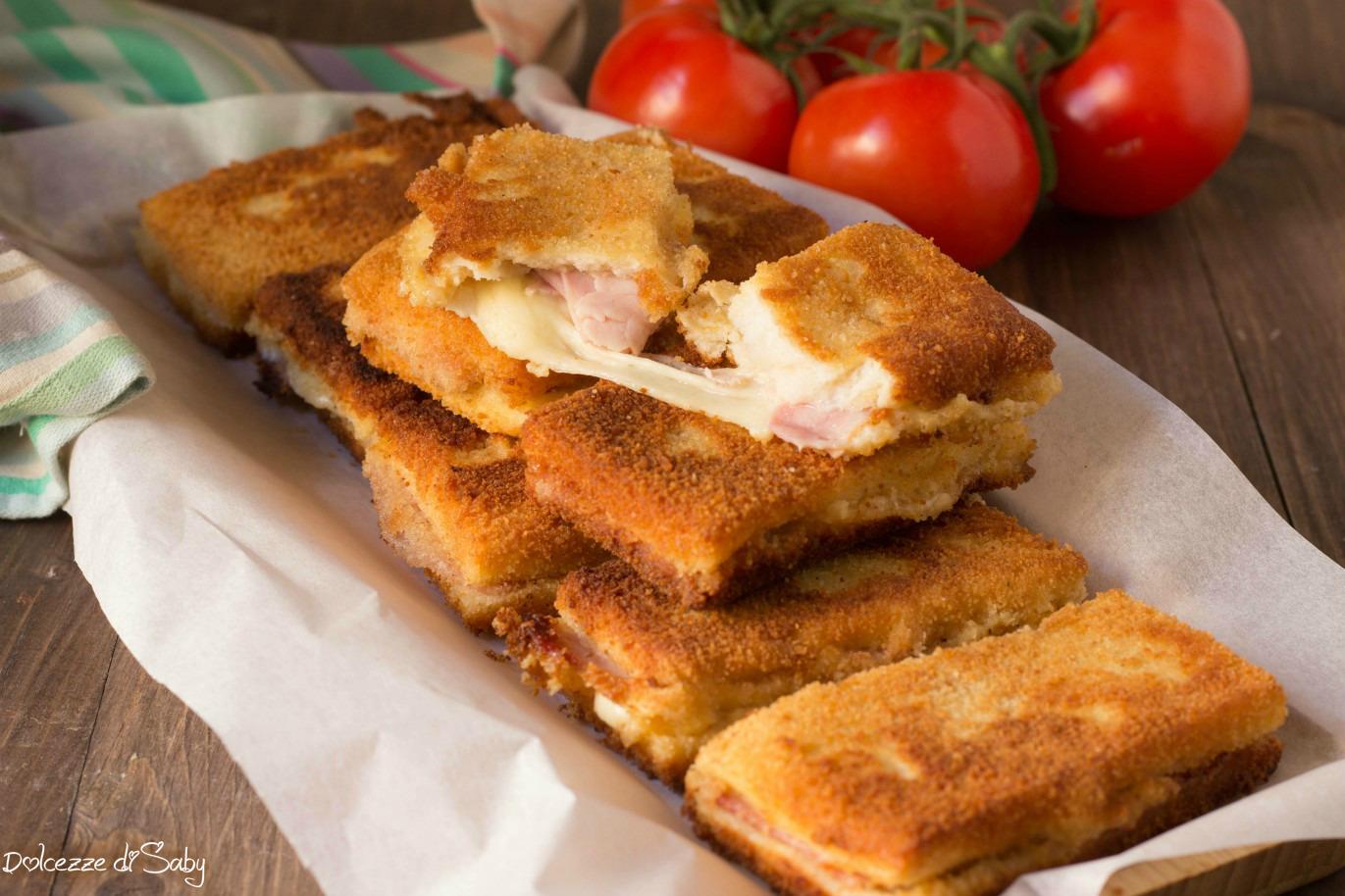 Mozzarella in Carrozza con Prosciutto ( Anche con Versione al Forno )