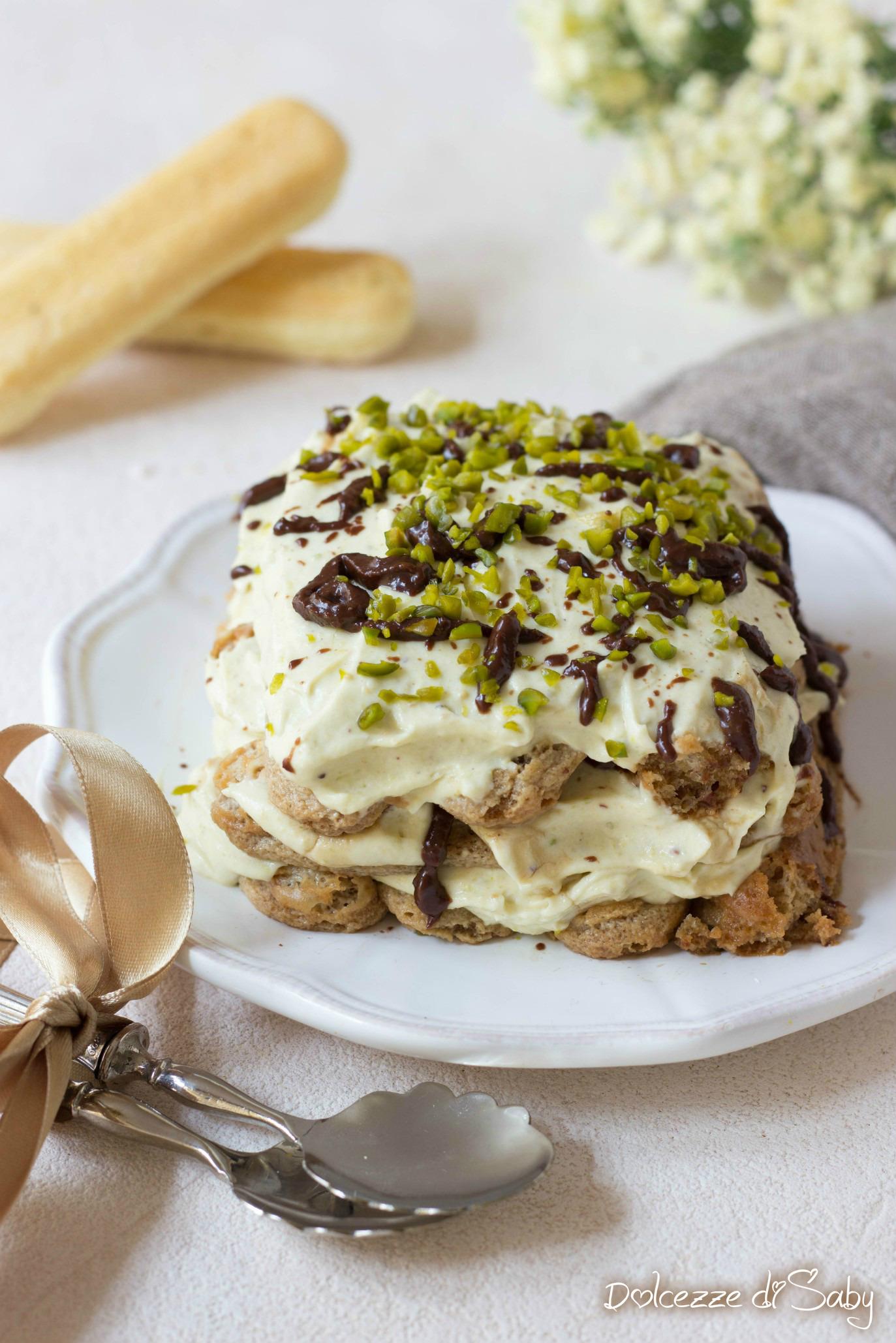 Tiramisú Pistacchio e Nutella (senza Uova)