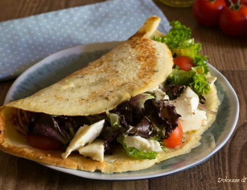 Crespelle salate con mozzarella e verdure