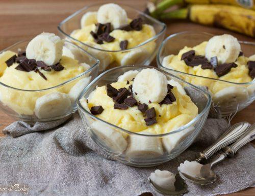 Crema alla banana e cioccolato