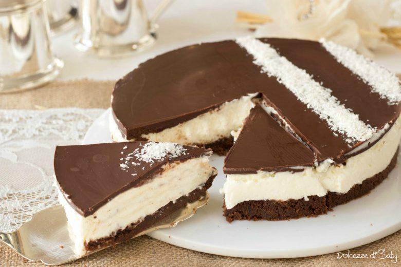 Cheesecake cocco e cioccolato