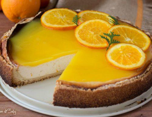 Käsekuchen all'arancia