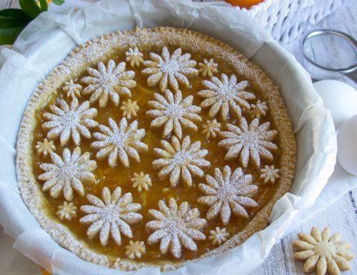 Crostata con Frolla all'Olio d'Oliva e Marmellata di Arance