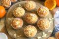Muffin all'Arancia, Cioccolato Bianco e Mandorle