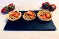 Tartellette alla crema di nocciole e fragole