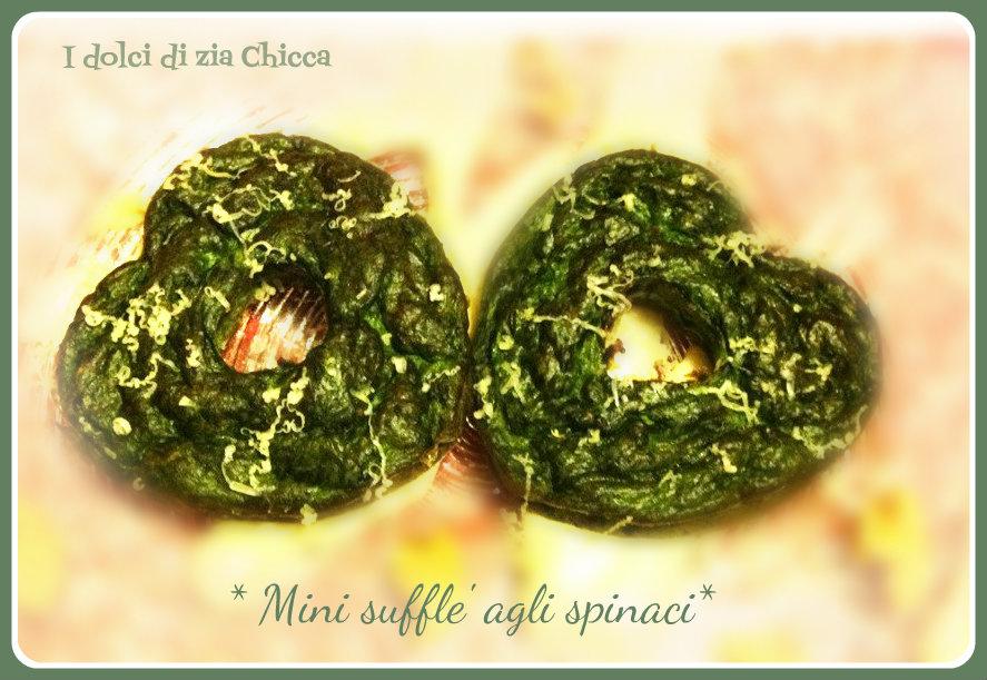 Sufflé agli spinaci con besciamella alla fontina