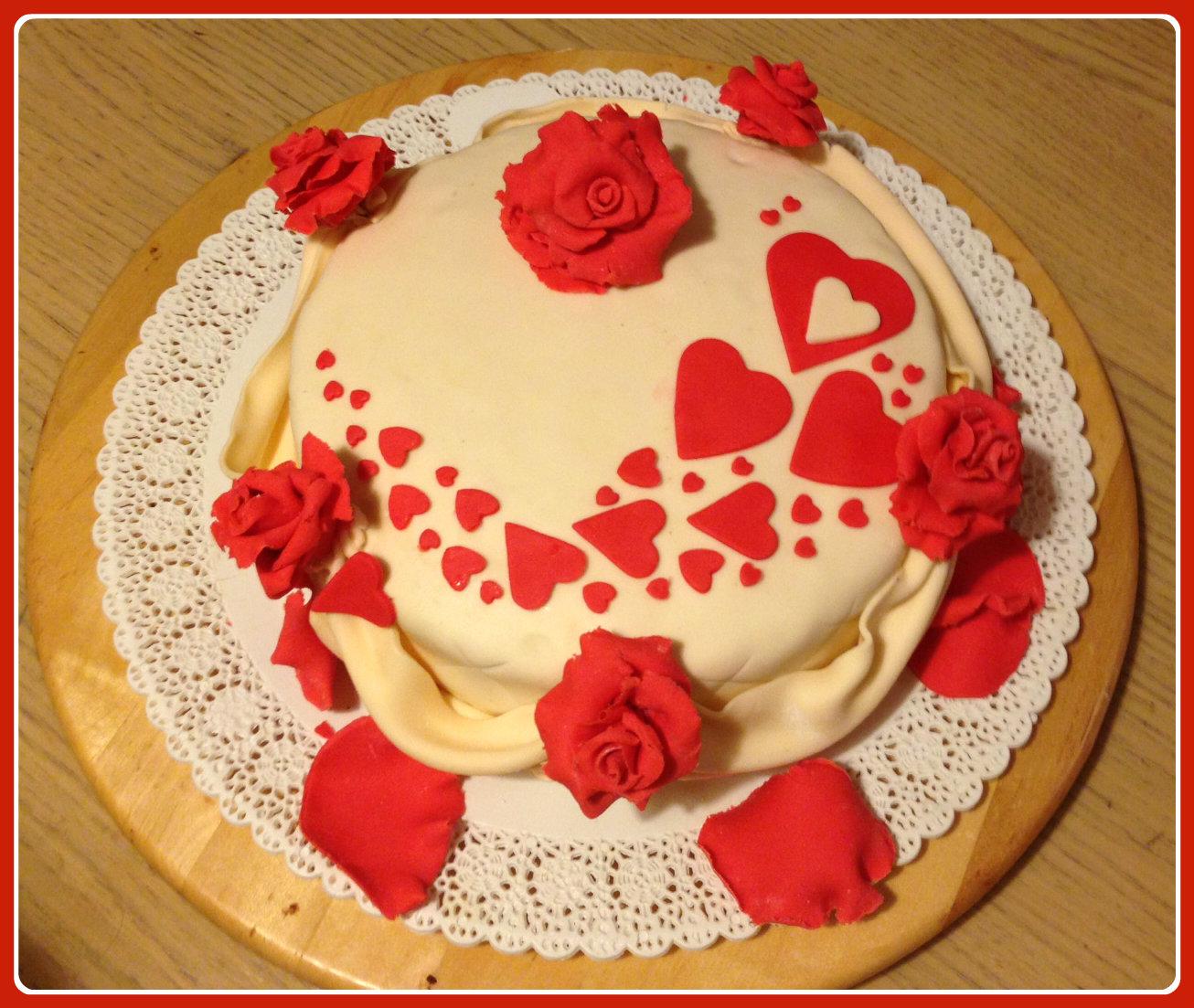 Torta al cioccolato per san valentino i dolci di zia chicca - Decori per san valentino ...