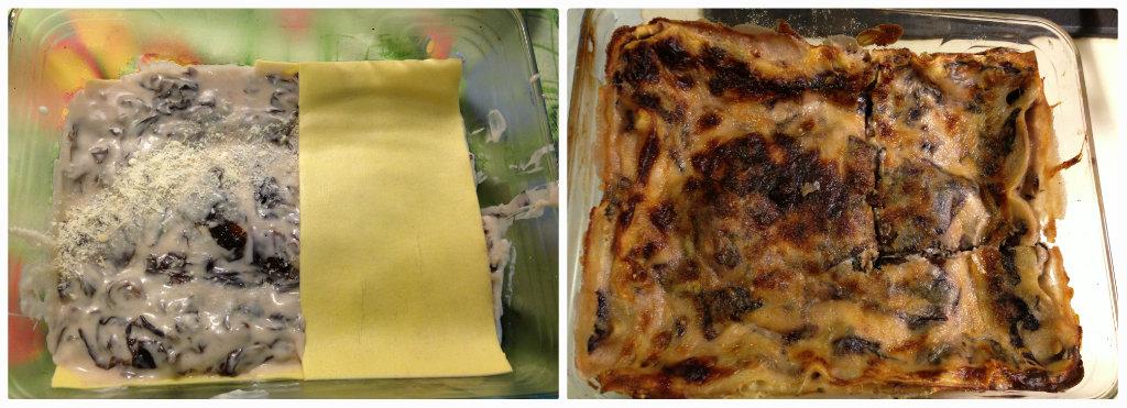 Lasagne con radicchio e gorgonzola
