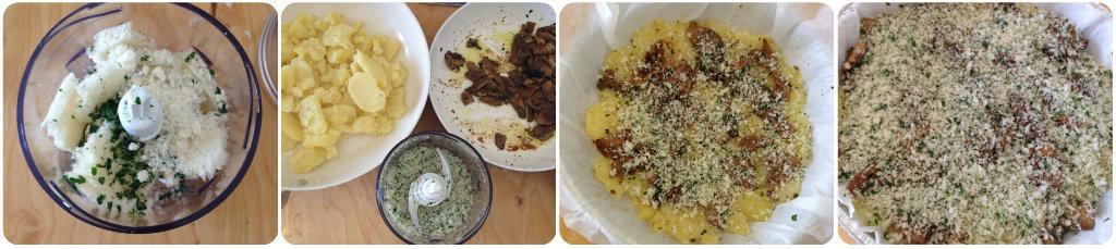 Sformato di funghi e patate