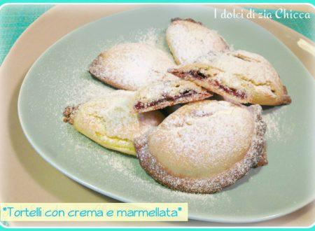 Tortelli dolci ripieni con crema e marmellata