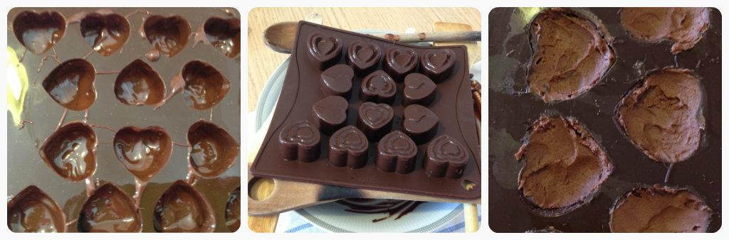 Cioccolatini ripieni con crema Lindor