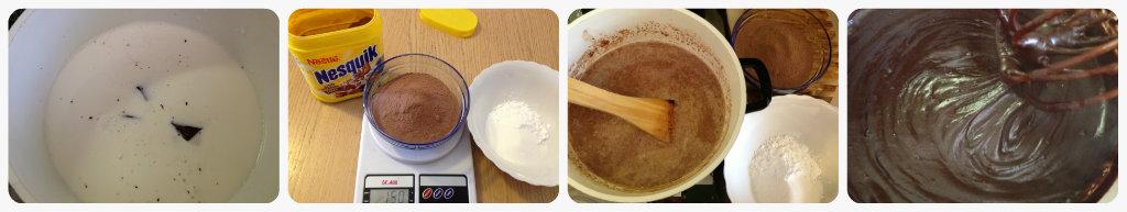 Sbrisolona con crema al cioccolato e Nesquik