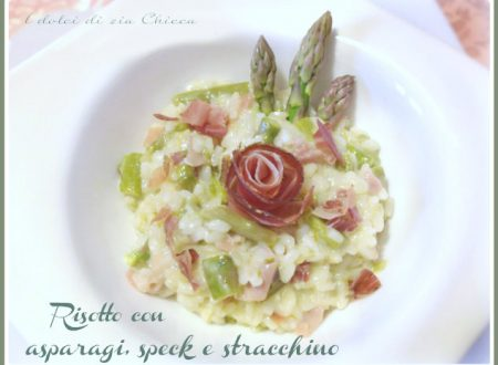 Risotto con asparagi, speck e stracchino