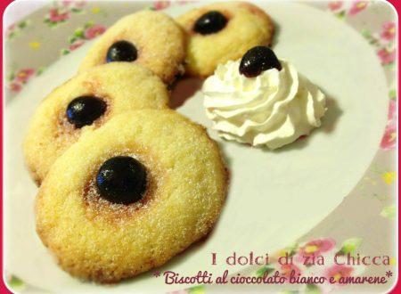 Biscotti al cioccolato bianco e amarene