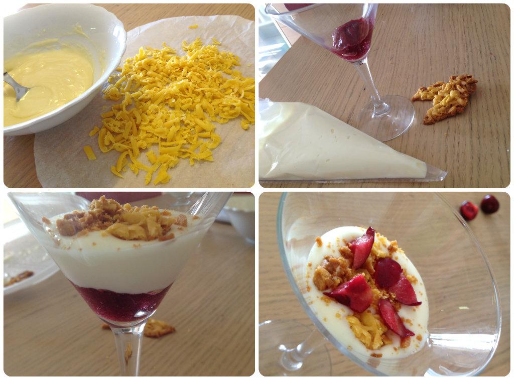 Cremoso allo yogurt con cioccolato bianco e ciliegie