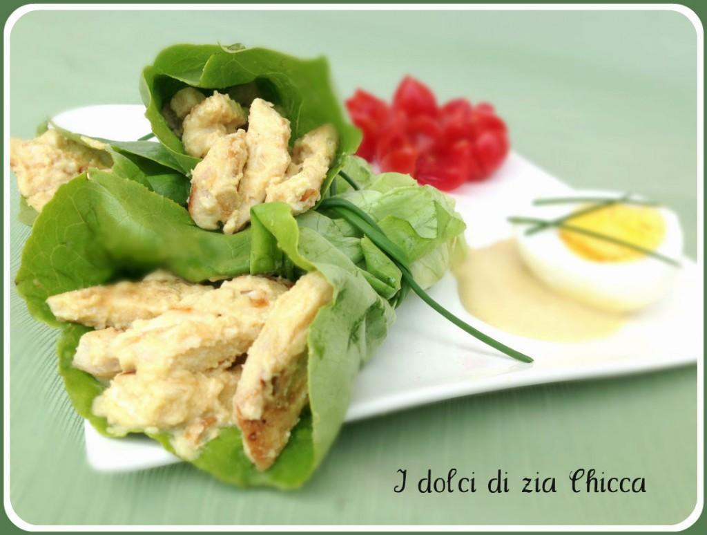 Caesar salad in involtino di lattuga