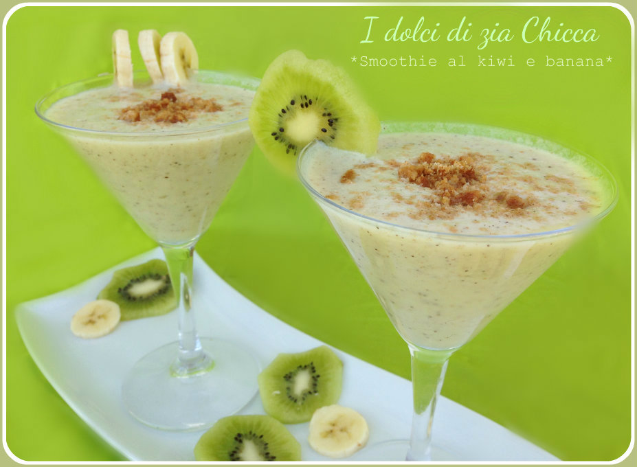 Smoothie al kiwi e banana