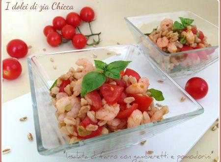 Insalata di farro con gamberetti e pomodorini