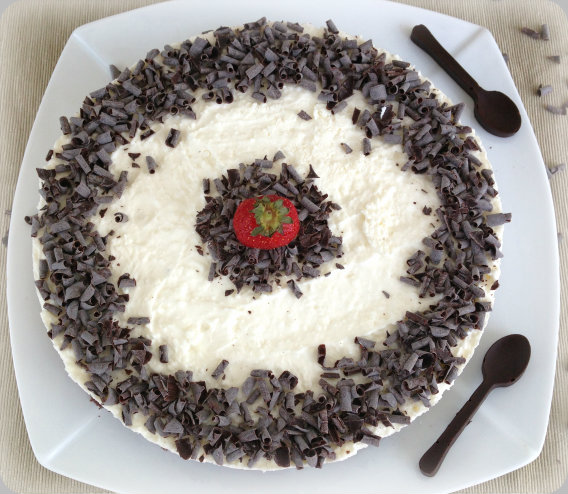 Cheesecake al cioccolato goloso senza cottura
