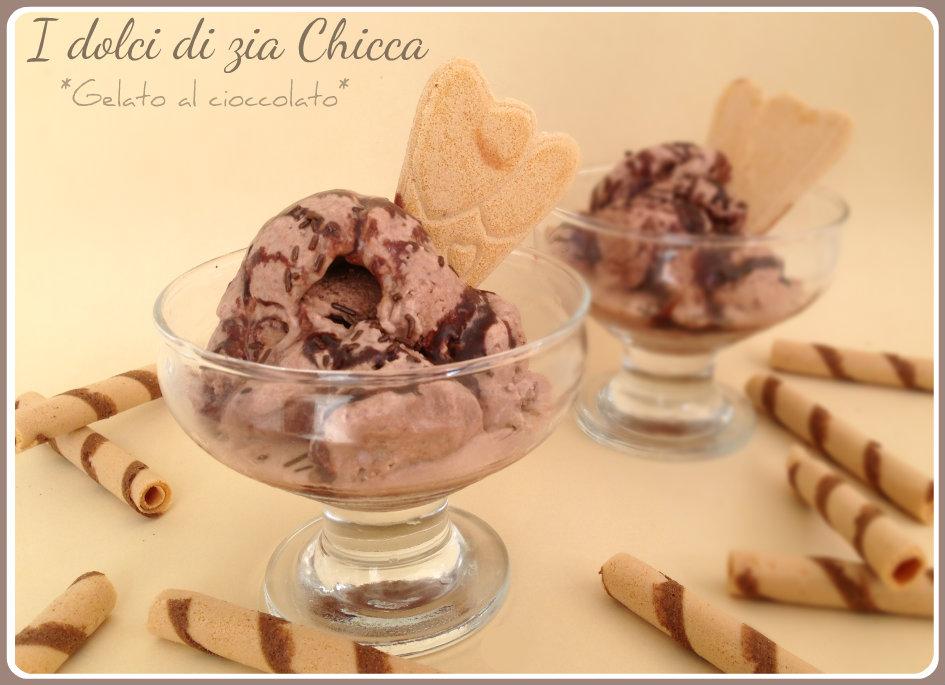Gelato al cioccolato senza gelatiera