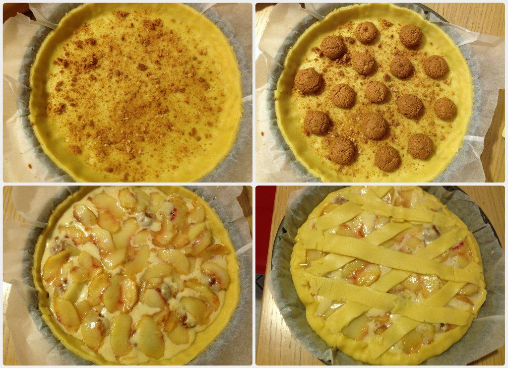 Crostata con pesche ed amaretti
