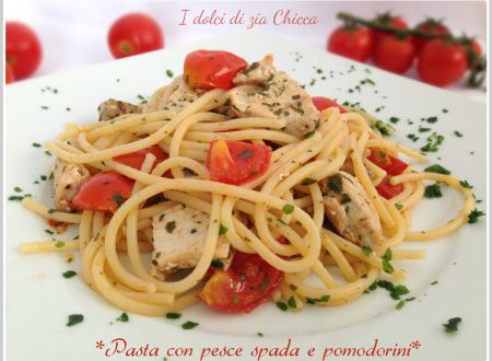 Pasta con pesce spada fresco e pomodorini