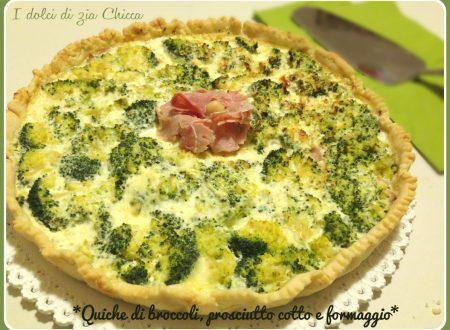 Quiche di broccoli, prosciutto cotto e formaggio