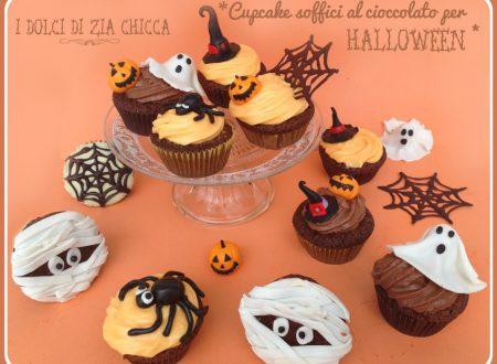 Cupcake al cioccolato ripieni di Nutella per Halloween