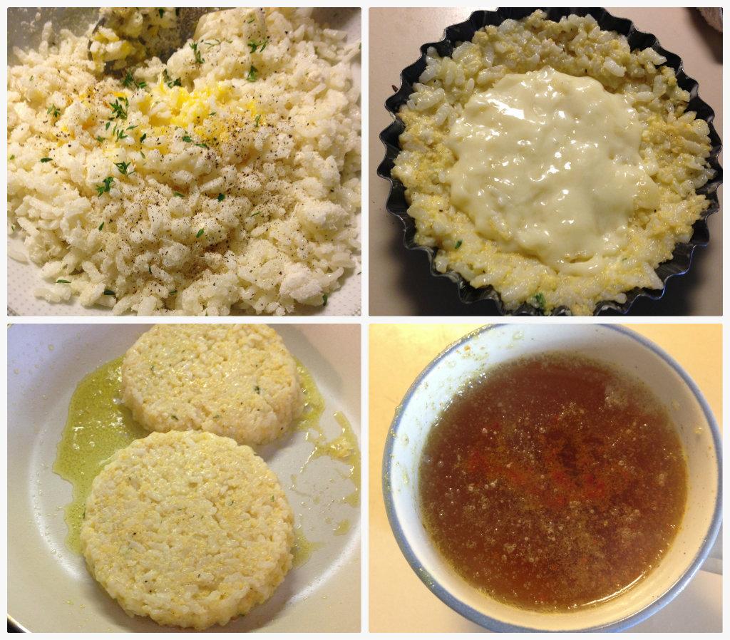 Sformatini di riso al taleggio con salsa allo zafferano