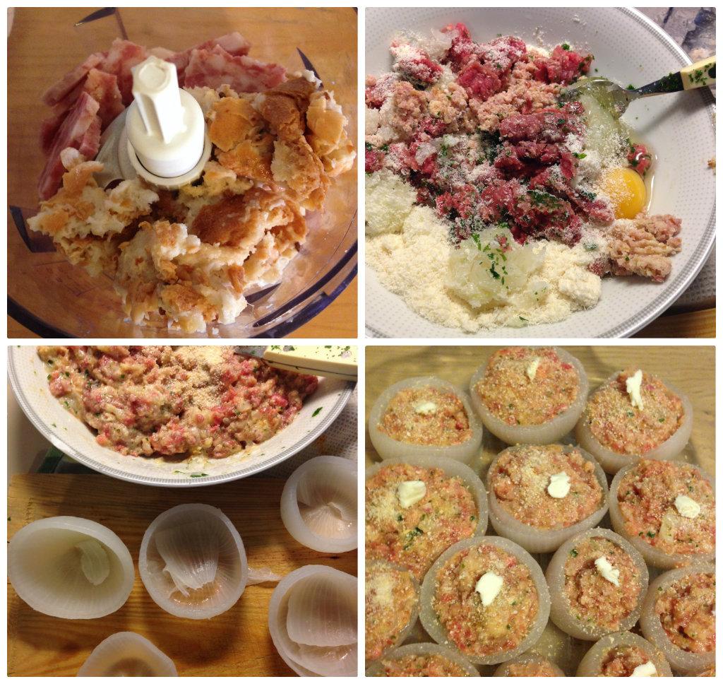 Cipolle ripiene di carne e cotechino, ricetta riciclo