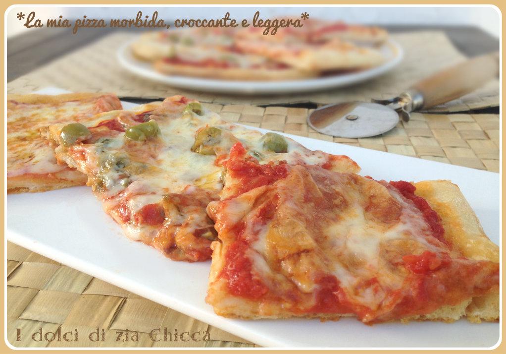 La mia pizza morbida, croccante e leggera
