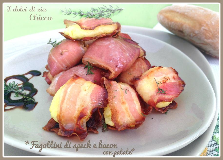Fagottini di speck e bacon con patate