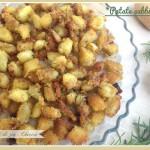Patate sabbiose cotte al forno