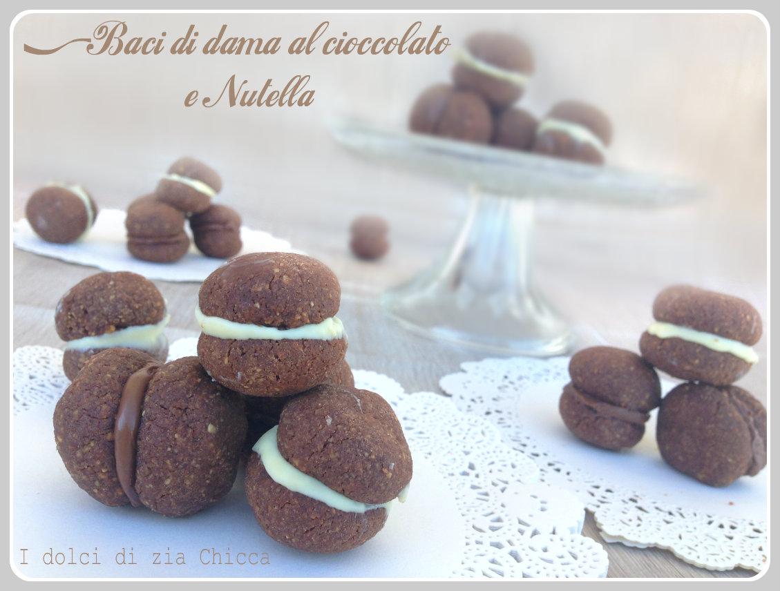 Baci di dama al cioccolato e Nutella