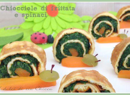 Chiocciole di frittata e spinaci