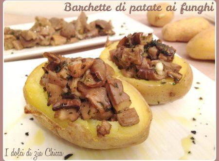 Barchette di patate ai funghi